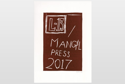 O.T (Mangél Press 2017) Linoldruck auf Papier